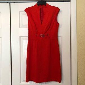 Trina Turk Red Midi Dress